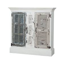 Myhomeideas by Guild Master Waterfront Hall Cabinet In Garden Lattice White
