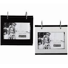 flip photo album 4x6 black 1 silver 1 flip its tabletop album each holds