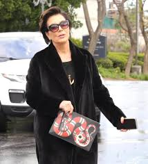 Kris Jenner Home by Kris Jenner Appears To Make A Dig At Blac Chyna With Snake Clutch