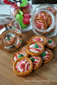pretzel rings with candy cane hershey kisses one of the easiest