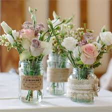 wedding flowers jam jars greig s real wedding floral wedding decor weddings