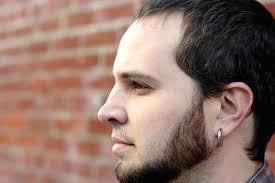 men earrings hoop earrings for men fashionable sand blasted black stainless