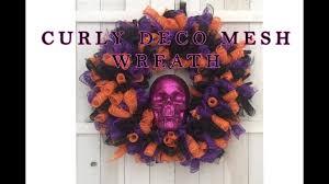 Halloween Tulle Wreath by Halloween Curly Wreath Youtube Youtube