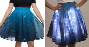 light up christmas skirt this starry skirt will light up the universe around you bored panda