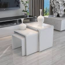 High Gloss Side Table High Gloss White Nest Of 3 Coffee Table Side End Table Modern