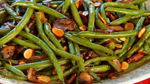 green beans thanksgiving recipe green beans with mushrooms and toasted almonds recipe u0026 video