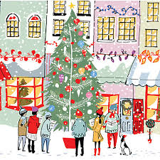 buy ling design tree and carol singers charity christmas cards