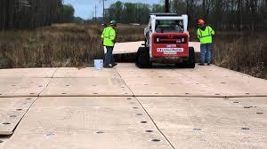 composite mats mega deck on spartan mat job site youtube
