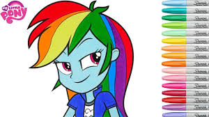 my little pony coloring book rainbow dash equestria girls mlp