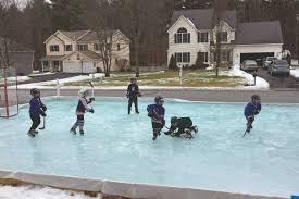 backyard hockey rinks range from simple to elaborate red deer