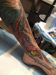 70 adorable biomechanical tattoos on leg