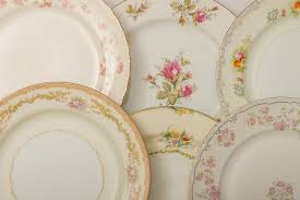 vintage mixed floral china plates dinner plates metro cuisine