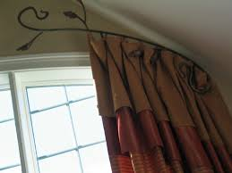 arch curtain rod 2 story window treatments arch window