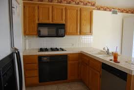 Small Kitchen Redo Ideas Small Kitchen Remodeling Idea Wooden Furniture Adorable L Shaped