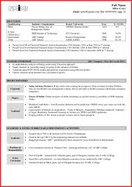 resume format for freshers engineers cse federal credit objective in resume for freshers sevte
