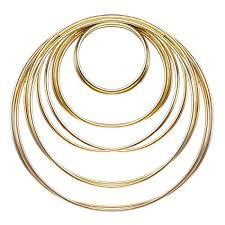 gold metal rings images Eboot 10 pieces metal rings metal hoops for dream jpg