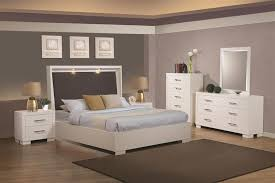 jessica bedroom set built in touch lighting bed 6 piece bedroom set in white finish by