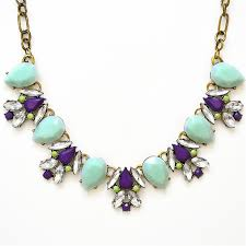 purple crystal stone necklace images Katie necklace mint stone crystal bib with purple accent by jpg