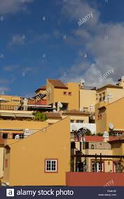 typical spanish houses in tenerife stock photo royalty free image
