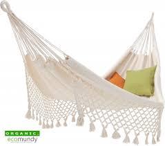 ecomundy familia premium family hammock organic cotton gots