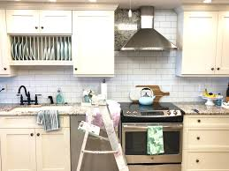 backsplash wallpaper for kitchen diy subway tile wallpaper backsplash styled with lace pertaining to
