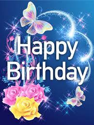shining rose u0026 butterfly happy birthday card birthday u0026 greeting