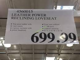 Leather Power Reclining Loveseat Leather Power Reclining Loveseat U2013 Costcochaser