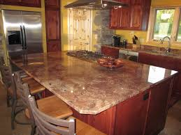 dazzling kitchen design with marble table top combined rounded