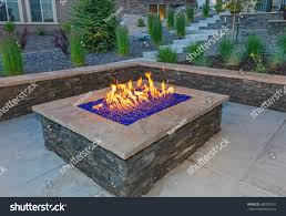 glass for fire pit square gas fire pit colored glass stock photo 482782510 shutterstock