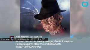 five shot in overnight party by man dressed as freddy krueger on
