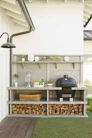 open shelves in kitchen ideas sleek open shelves for outdoor kitchen concept painted in grey for