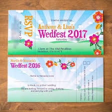 ticket wedding invitations festival ticket wedding invitations