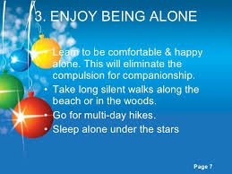 Being Comfortable Alone How To Be Happy Alone