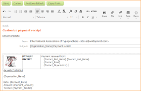 customizing invoices and receipts online help wild apricot help