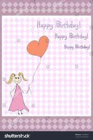 vector happy birthday gift card heart stock vector 147848297