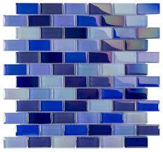caribbean glass pool tile 1x2