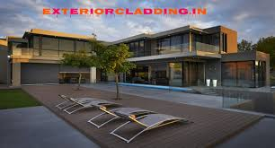 Home Exterior Design In Delhi by Hpl Fundermax Stylam Ipe Wood Exterior Cladding Acp Hpl