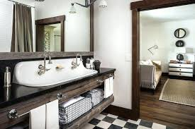 Bathroom Vanities Country Style Vanities Double Trough Bathroom Vanity Double Faucet Trough Sink