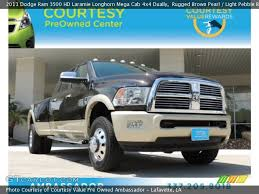 2011 dodge ram value rugged brown pearl 2011 dodge ram 3500 hd laramie longhorn mega