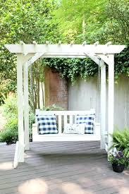 arbor swing plans pergola with swing plans porch swing with pergola arbor swing set
