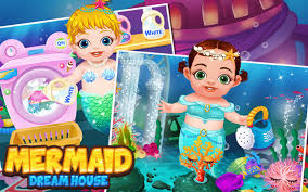 mermaid babies fun house clean android apps on google play