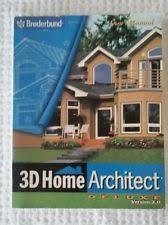 3dha home design deluxe update broderbund 3d home design suite deluxe version 3 0 complete ebay