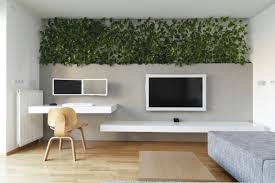 snazzy apartment showcases a lavish green wall