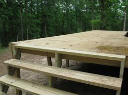 how to build your own elevated deck on uneven ground diy small