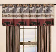 Window Valances Ideas Rustic Curtains Cabin Window Treatments