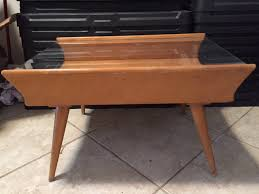 conant ball coffee table wood side table conant ball brown saltman or neither
