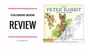 the peter rabbit coloring book review charles santore youtube