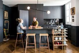 cuisine en noir dcor de cuisine excellent design house decor coastal
