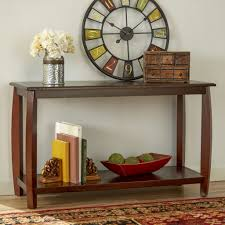 console table ideas pictures with wooden varnishing frames and