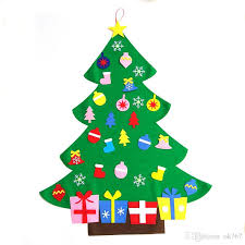 new sale kids diy felt christmas tree set with ornaments